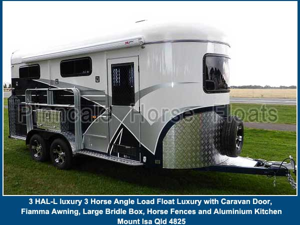 3 horse angel load float custom luxury 6