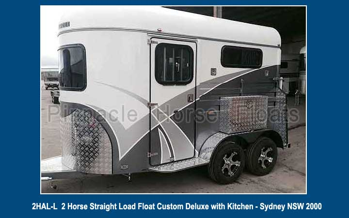 2 Horse Straight Load Float Custom Deluxe with Kitchen 24