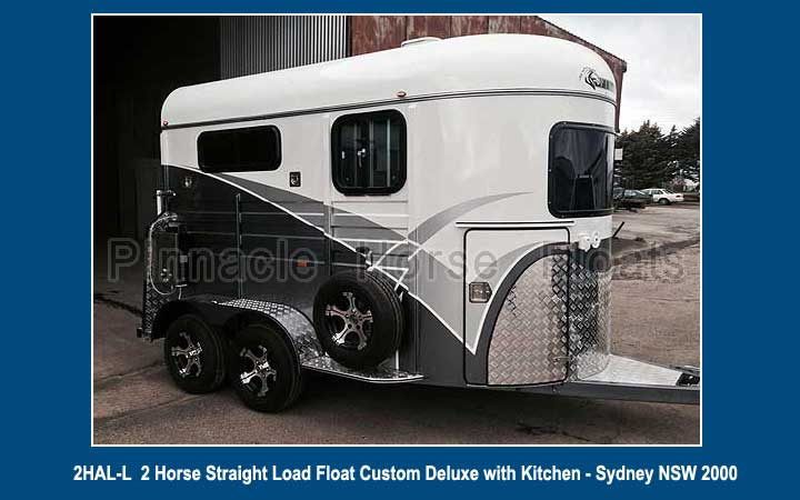 2 Horse Straight Load Float Custom Deluxe with Kitchen 26