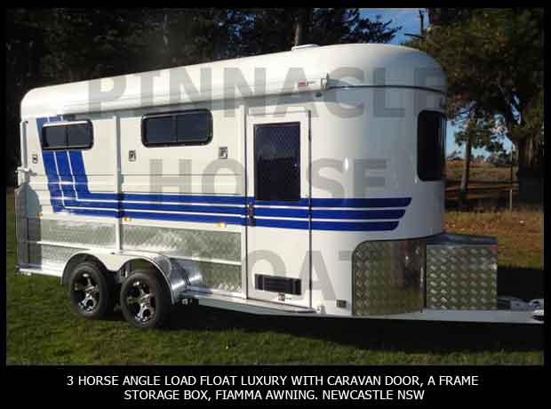 3 Horse Angle Load Float Luxury Pinnacle 3HAL- L 8