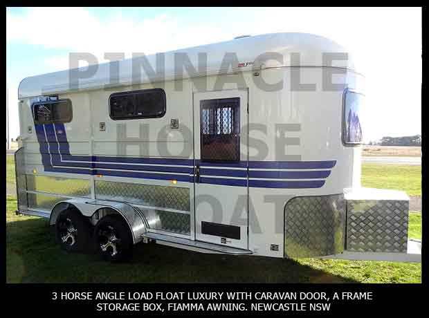 3 Horse Angle Load Float Luxury Pinnacle 3HAL- L 10