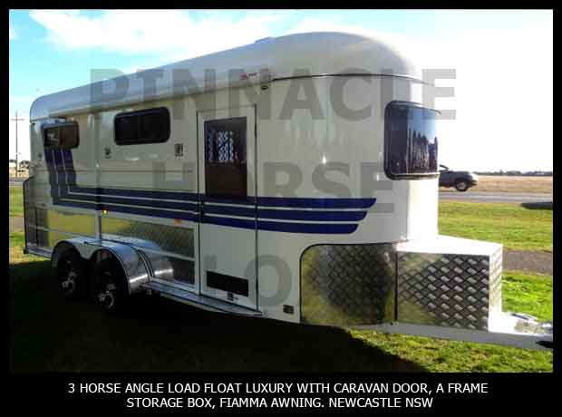 3 Horse Angle Load Float Luxury Pinnacle 3HAL- L 12
